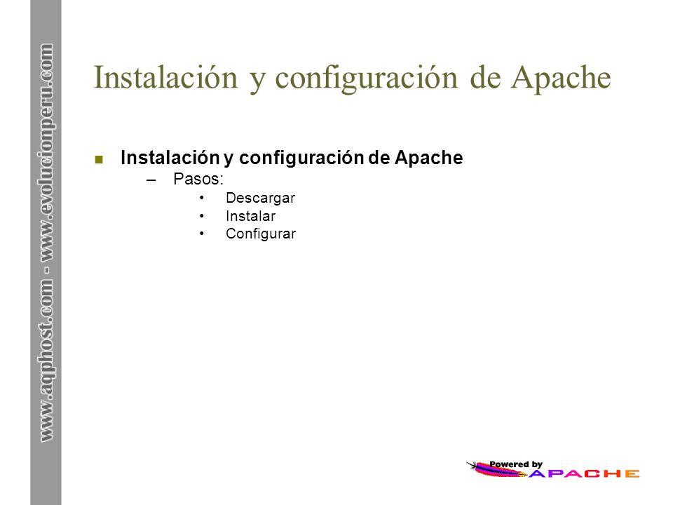 Instalación y configuración de Apache