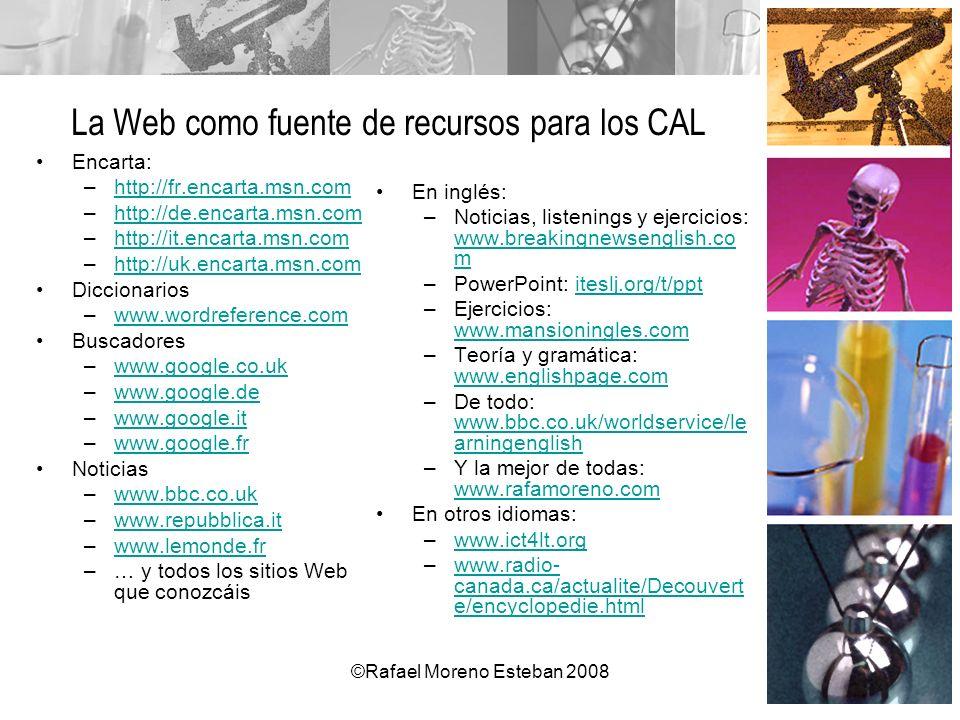 La Web como fuente de recursos para los CAL