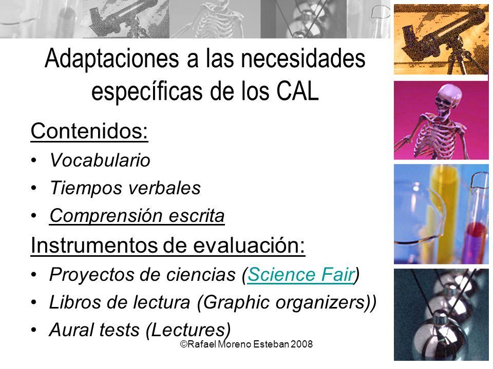 Adaptaciones a las necesidades específicas de los CAL