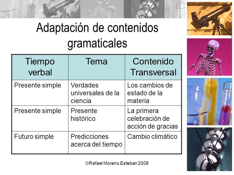 Adaptación de contenidos gramaticales