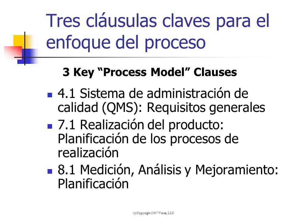 Tres cláusulas claves para el enfoque del proceso