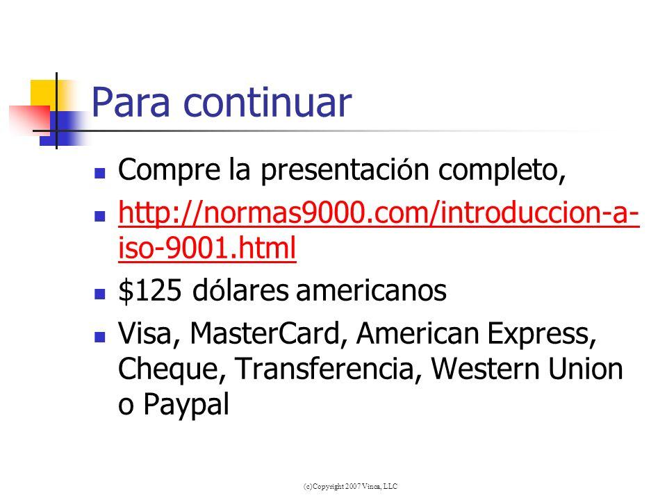 (c)Copyright 2007 Vinca, LLC