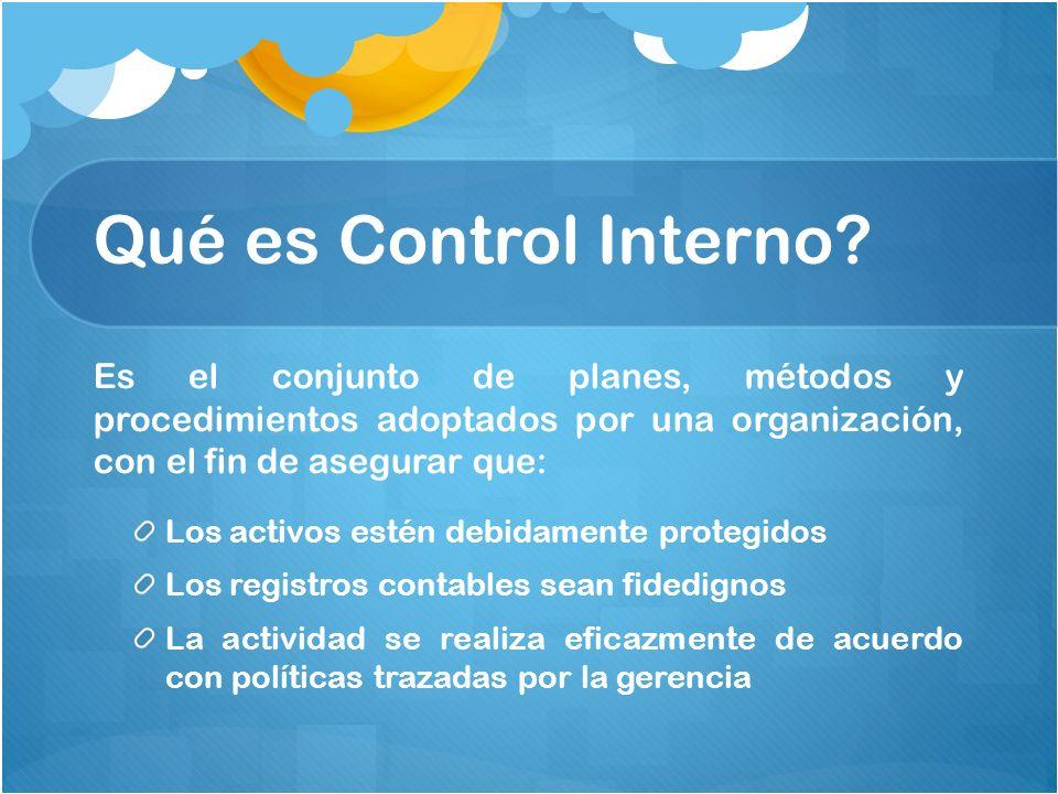 control interno ppt video online descargar