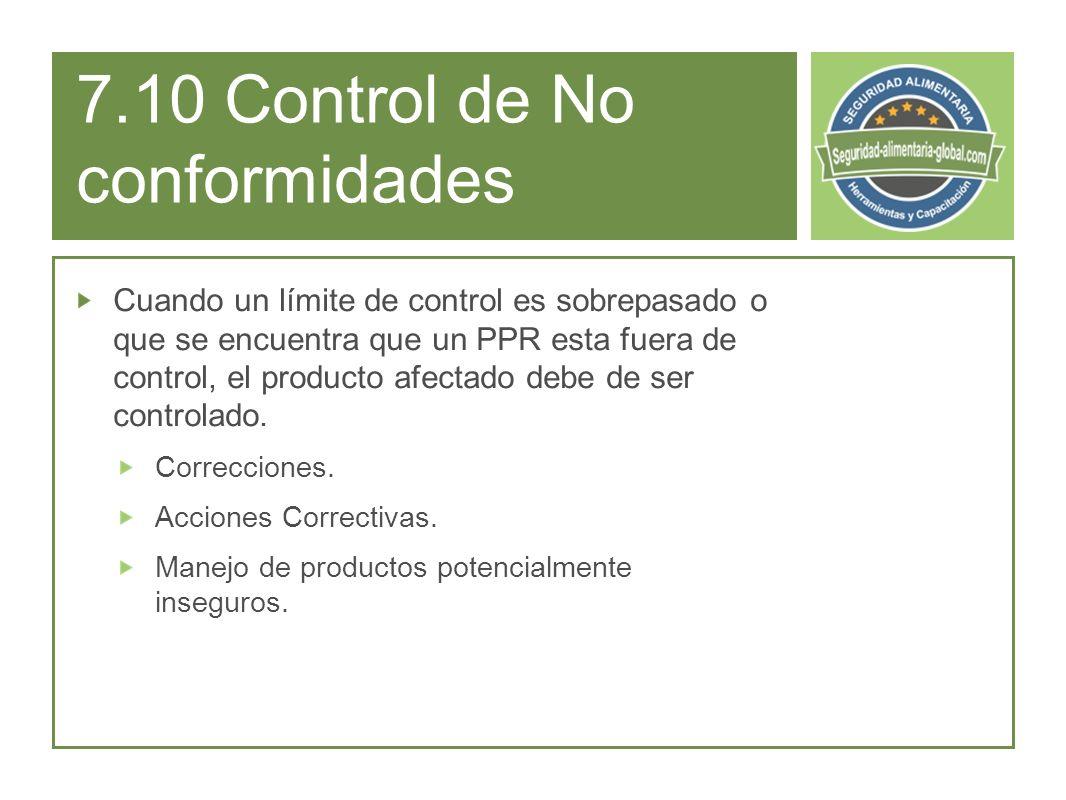7.10 Control de No conformidades