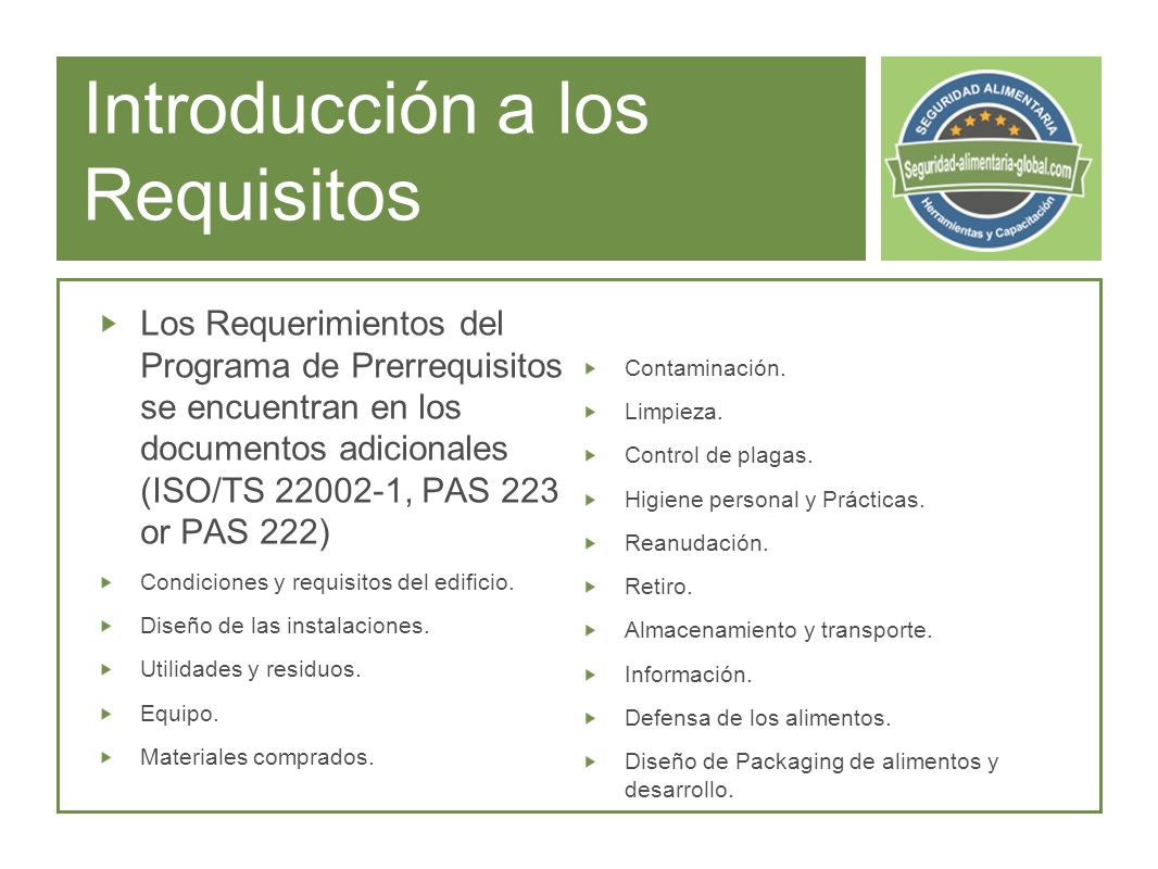 Introducción a los Requisitos