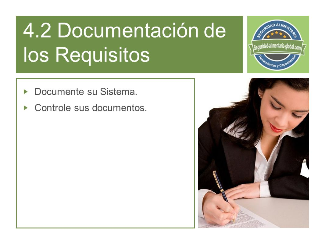 4.2 Documentación de los Requisitos