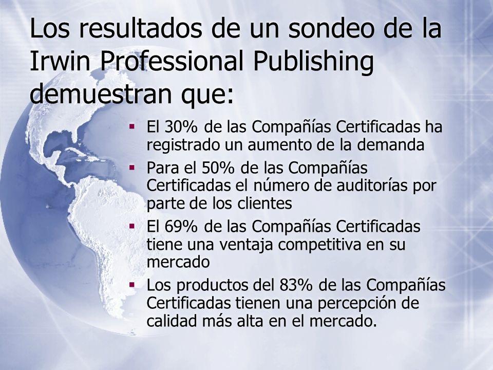 Los resultados de un sondeo de la Irwin Professional Publishing demuestran que: