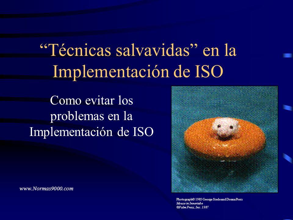 Técnicas salvavidas en la Implementación de ISO