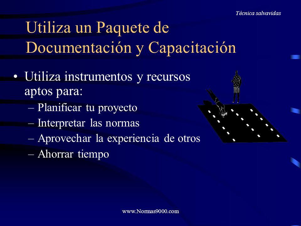 Utiliza un Paquete de Documentación y Capacitación