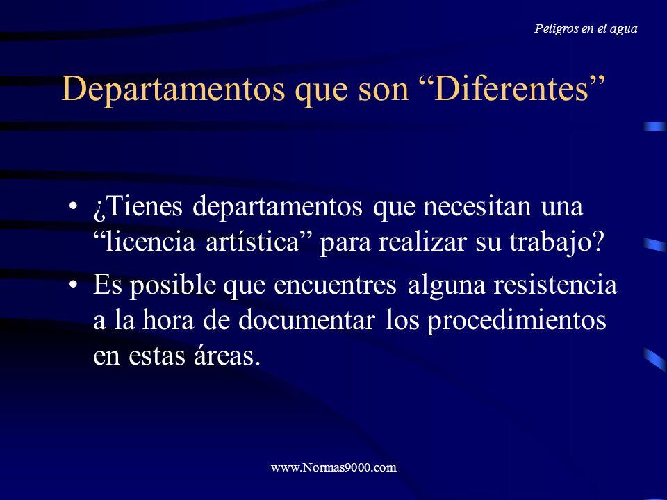 Departamentos que son Diferentes