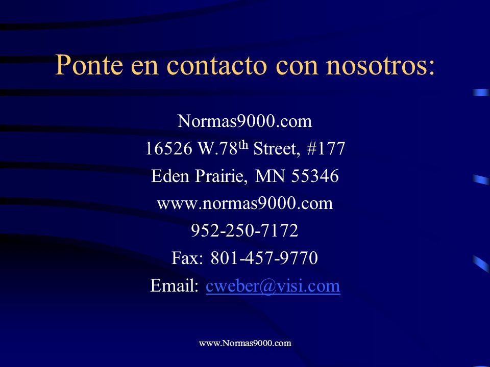 Ponte en contacto con nosotros: