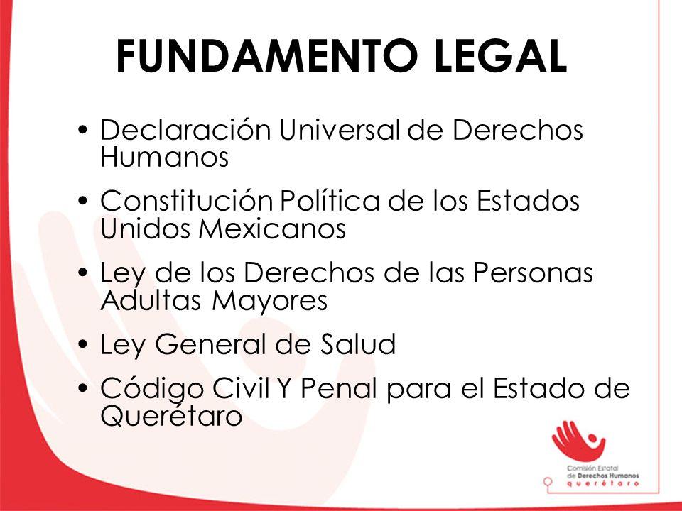 FUNDAMENTO LEGAL Declaración Universal de Derechos Humanos