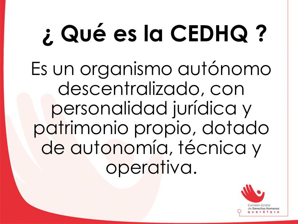 ¿ Qué es la CEDHQ
