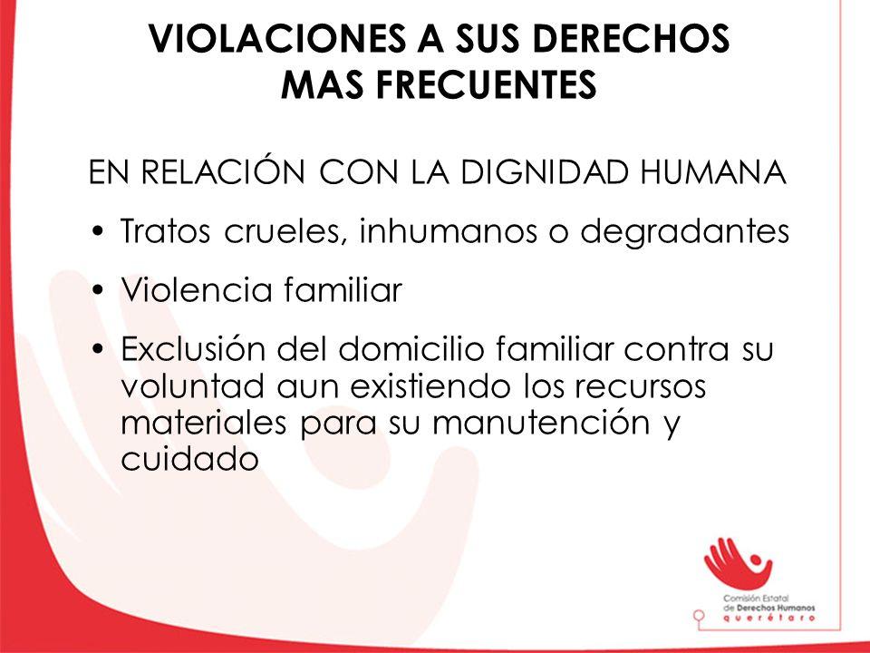 VIOLACIONES A SUS DERECHOS MAS FRECUENTES