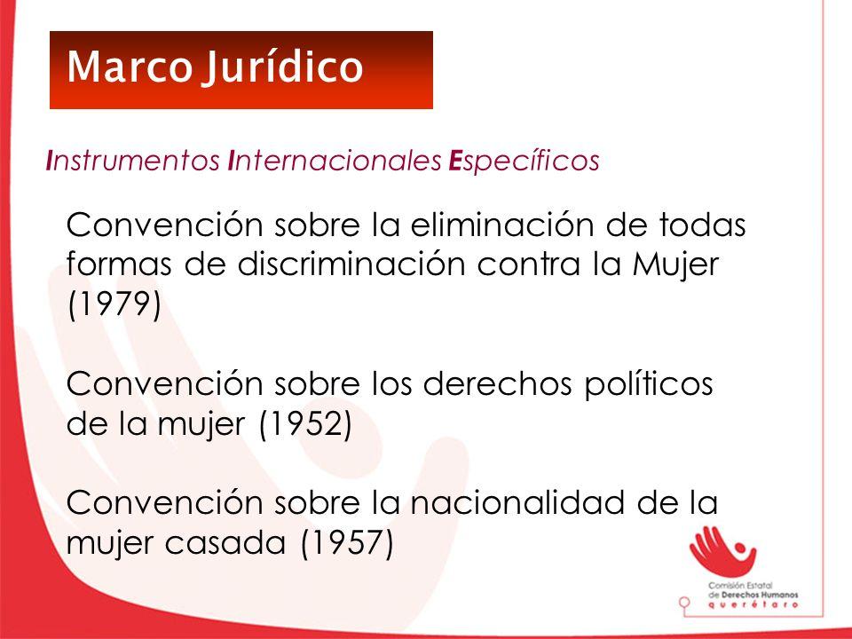 Marco Jurídico Instrumentos Internacionales Específicos. Convención sobre la eliminación de todas formas de discriminación contra la Mujer (1979)