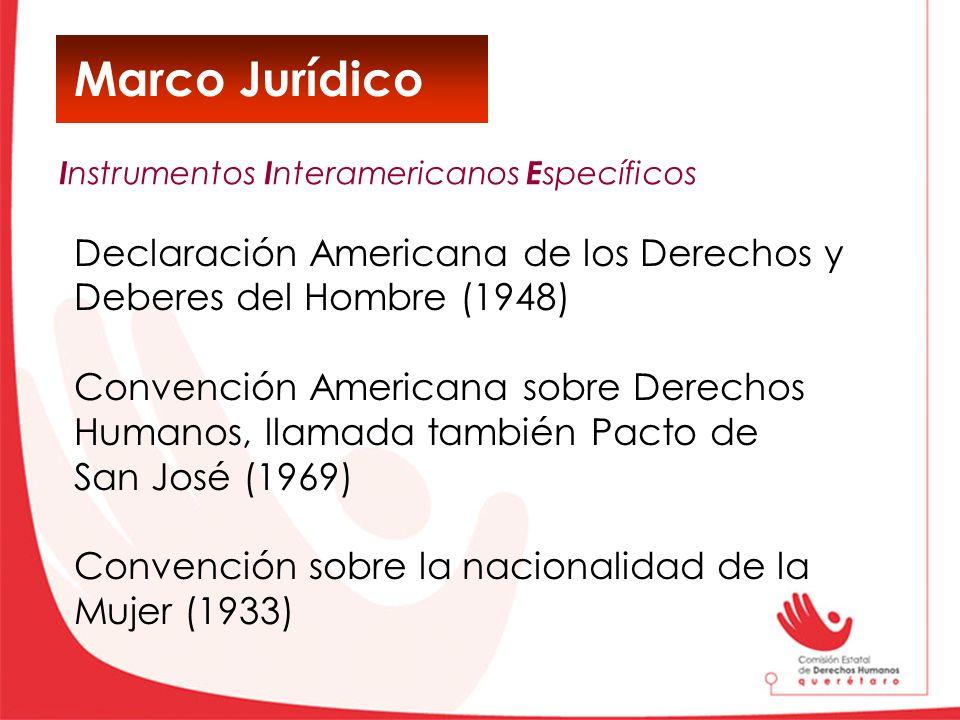 Marco Jurídico Declaración Americana de los Derechos y