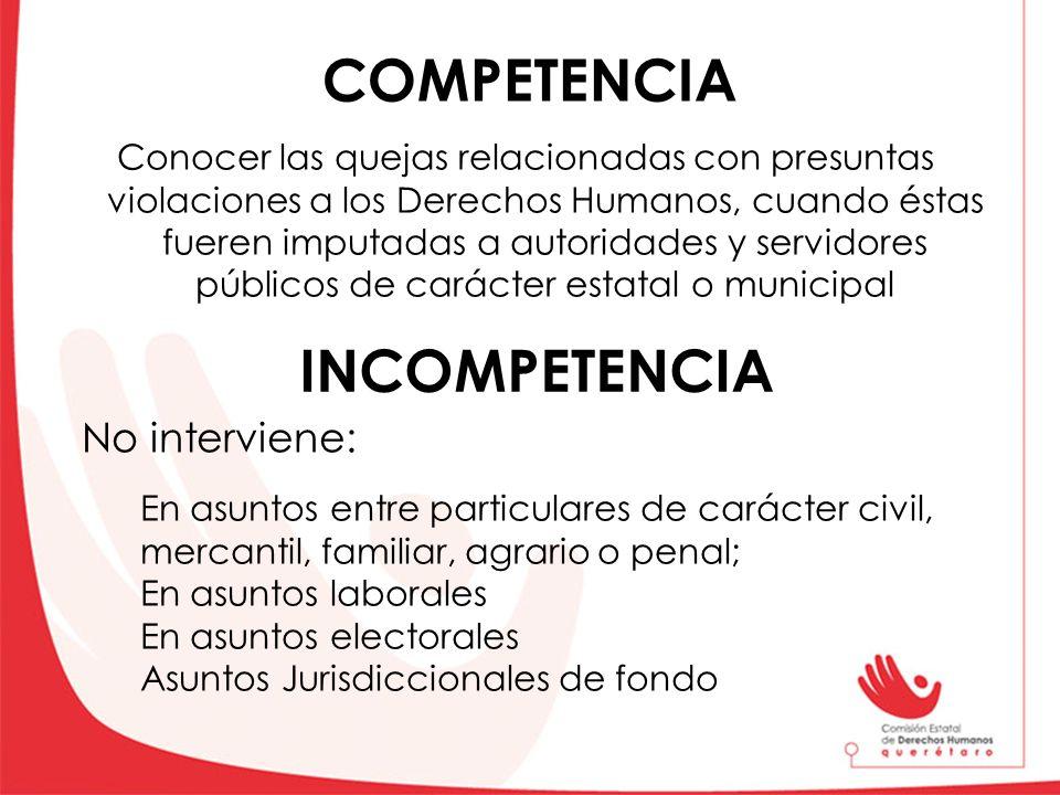 COMPETENCIA INCOMPETENCIA