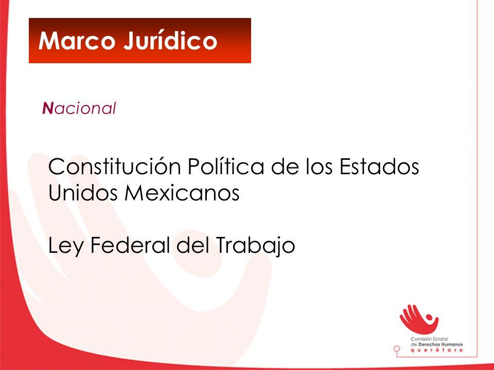 Marco Jurídico Constitución Política de los Estados Unidos Mexicanos