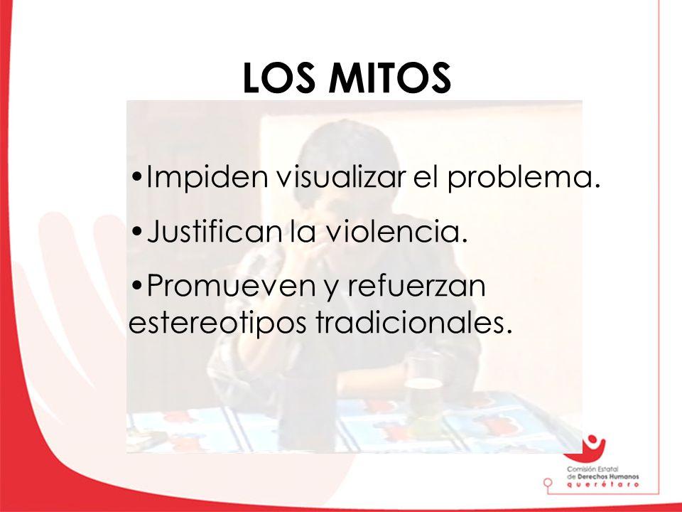LOS MITOS Impiden visualizar el problema. Justifican la violencia.