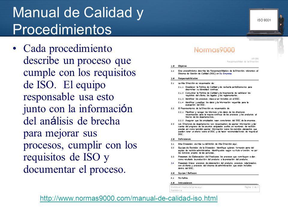 Manual de Calidad y Procedimientos