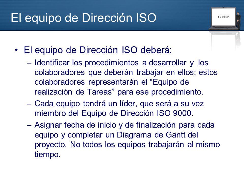 El equipo de Dirección ISO