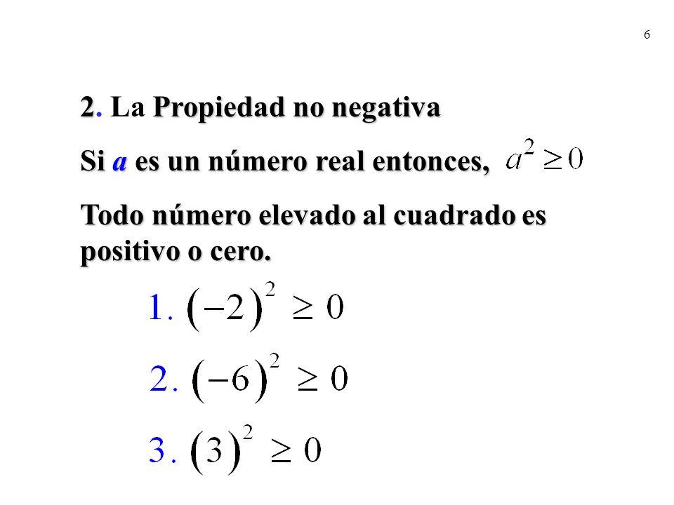 2. La Propiedad no negativa