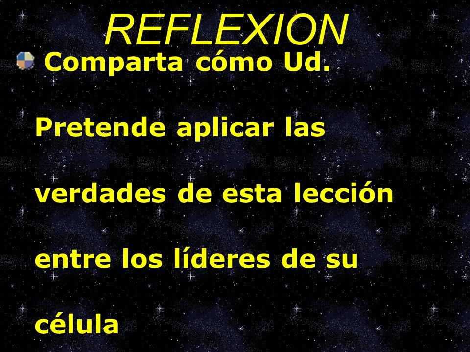 REFLEXION Comparta cómo Ud.