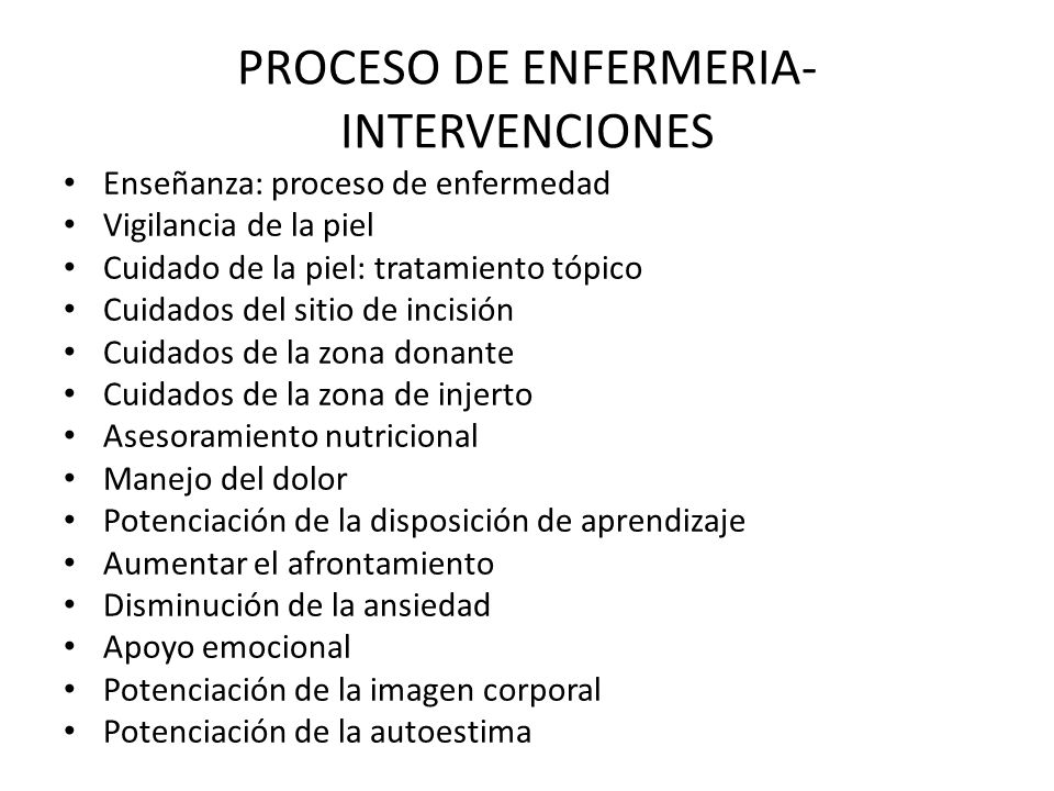 PROCESO DE ENFERMERIA-INTERVENCIONES