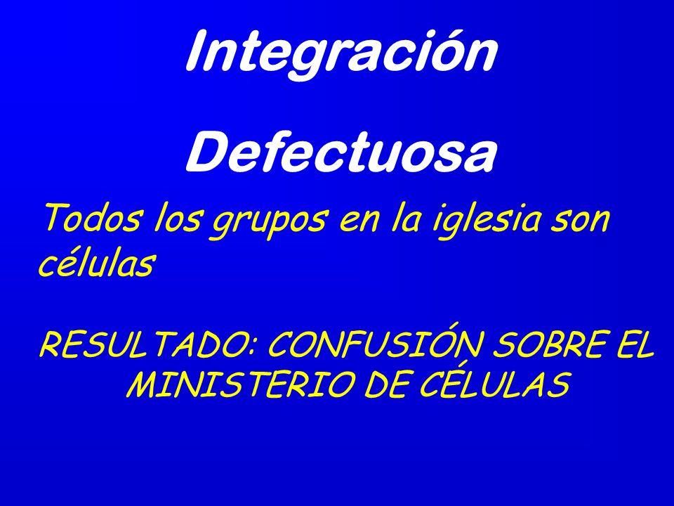 RESULTADO: CONFUSIÓN SOBRE EL MINISTERIO DE CÉLULAS
