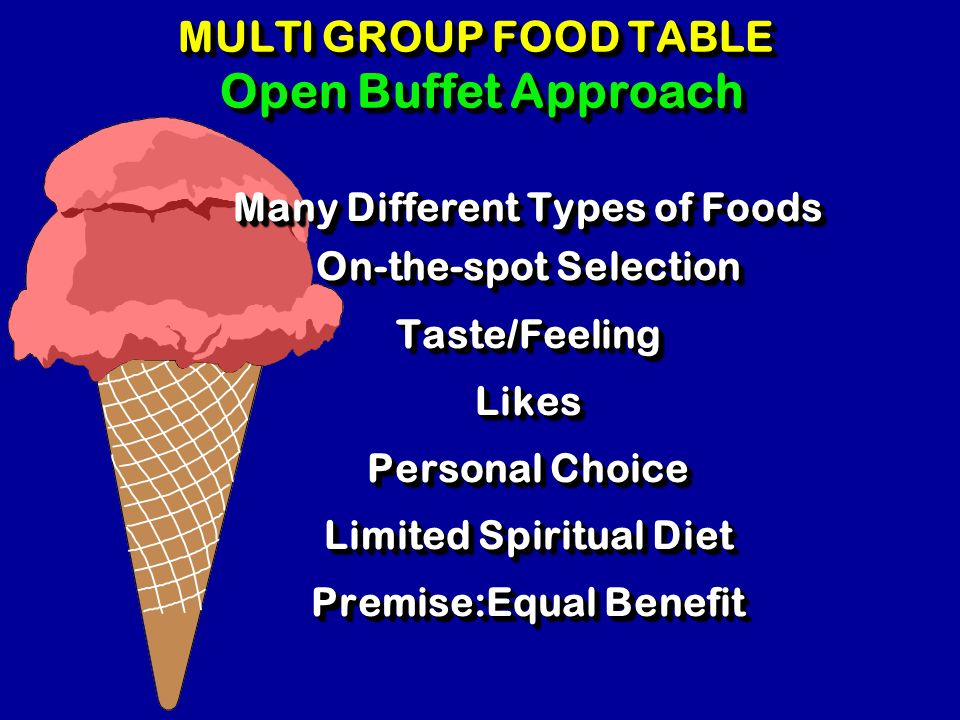 MULTI GROUP FOOD TABLE Open Buffet Approach