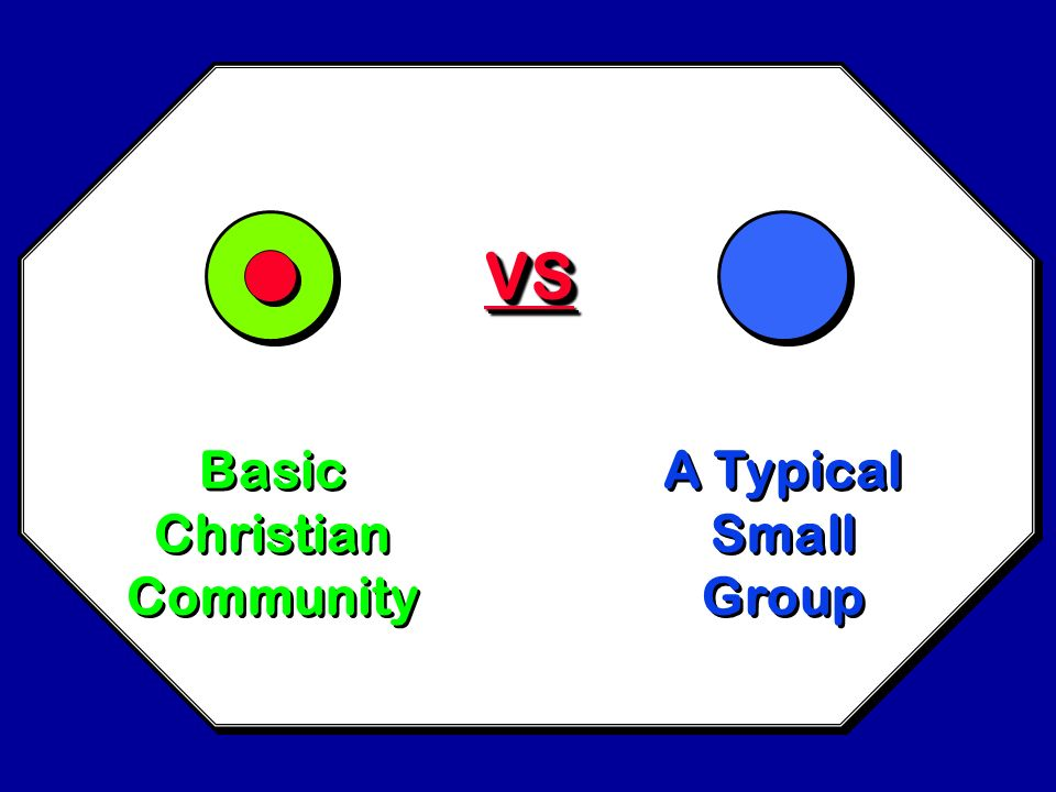 VS Basic Christian Community A Typical Small Group