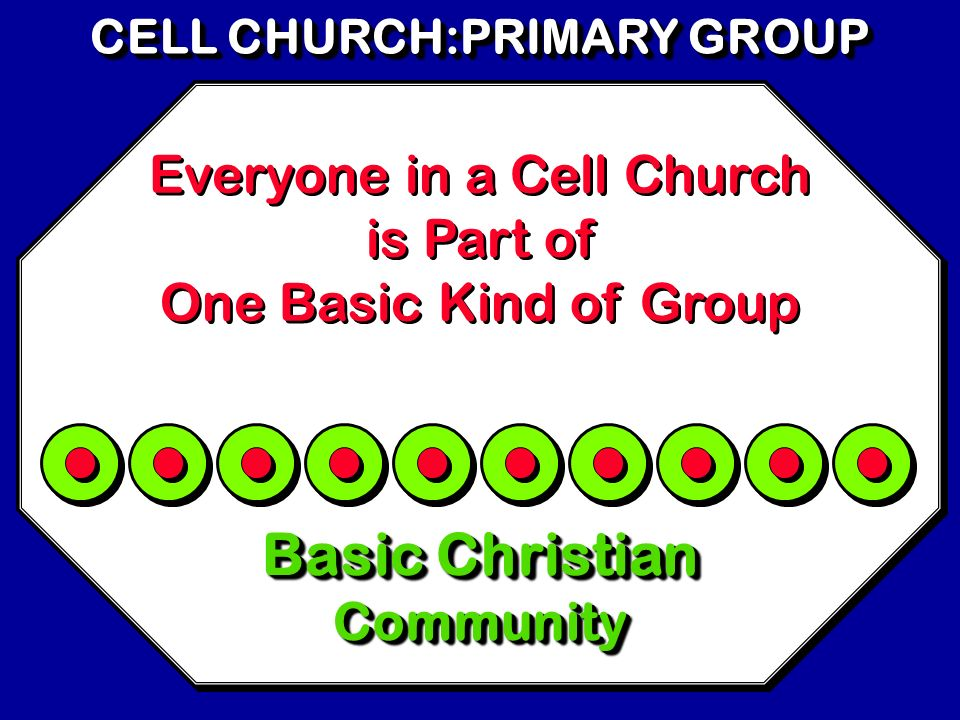 CELL CHURCH:PRIMARY GROUP