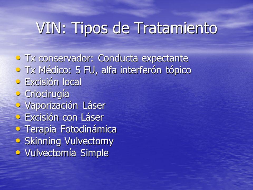 VIN: Tipos de Tratamiento