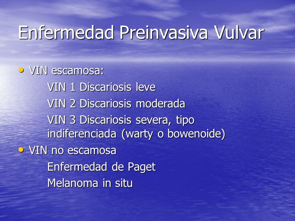 Enfermedad Preinvasiva Vulvar