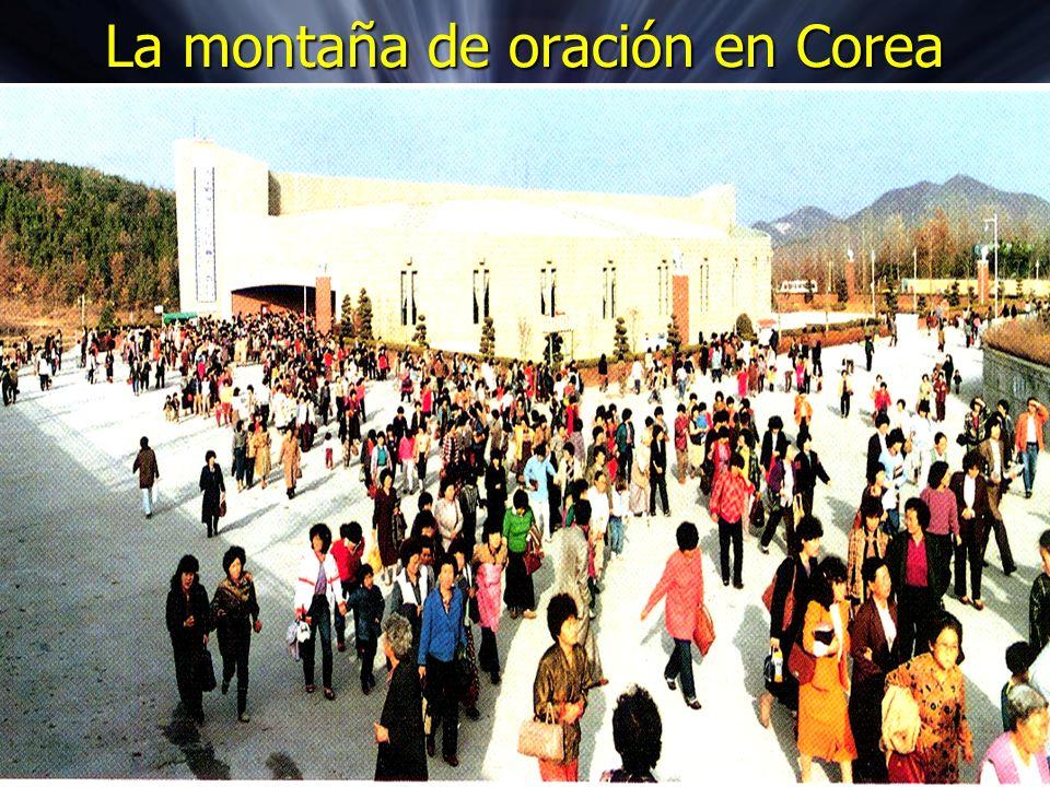 La montaña de oración en Corea