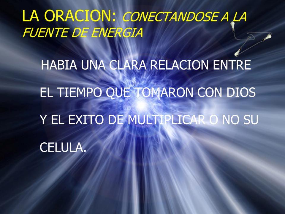 LA ORACION: CONECTANDOSE A LA FUENTE DE ENERGIA