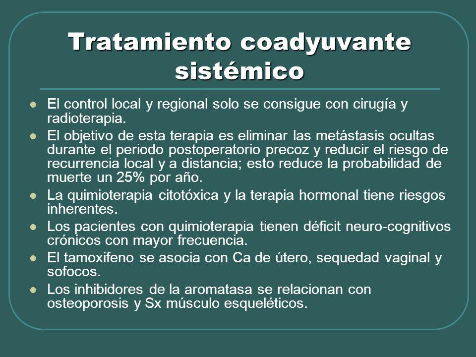 Tratamiento coadyuvante sistémico