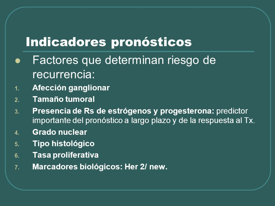 Indicadores pronósticos