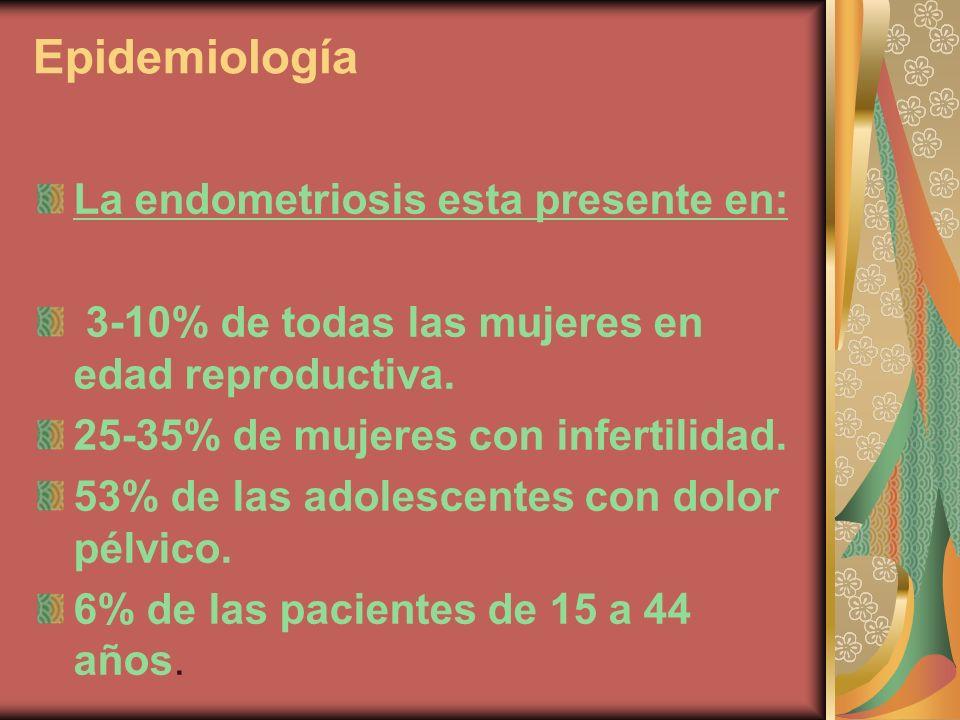 Epidemiología La endometriosis esta presente en: