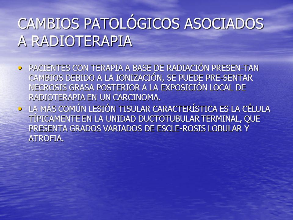 CAMBIOS PATOLÓGICOS ASOCIADOS A RADIOTERAPIA