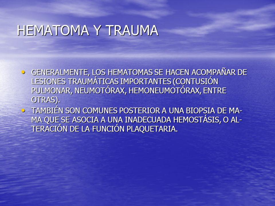 HEMATOMA Y TRAUMA