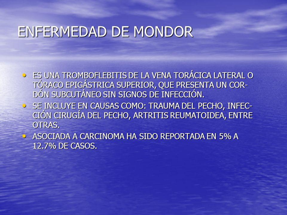 ENFERMEDAD DE MONDOR