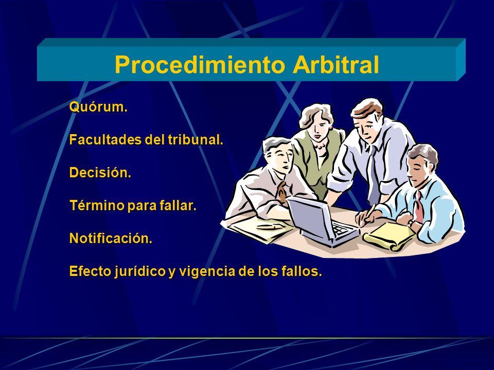 Procedimiento Arbitral