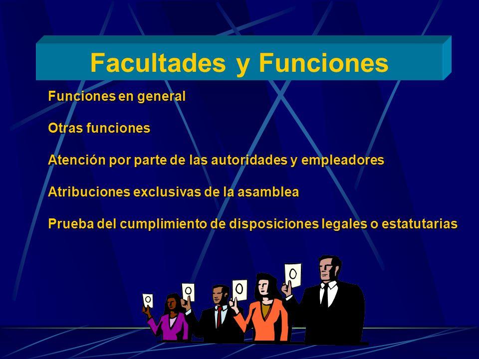Facultades y Funciones