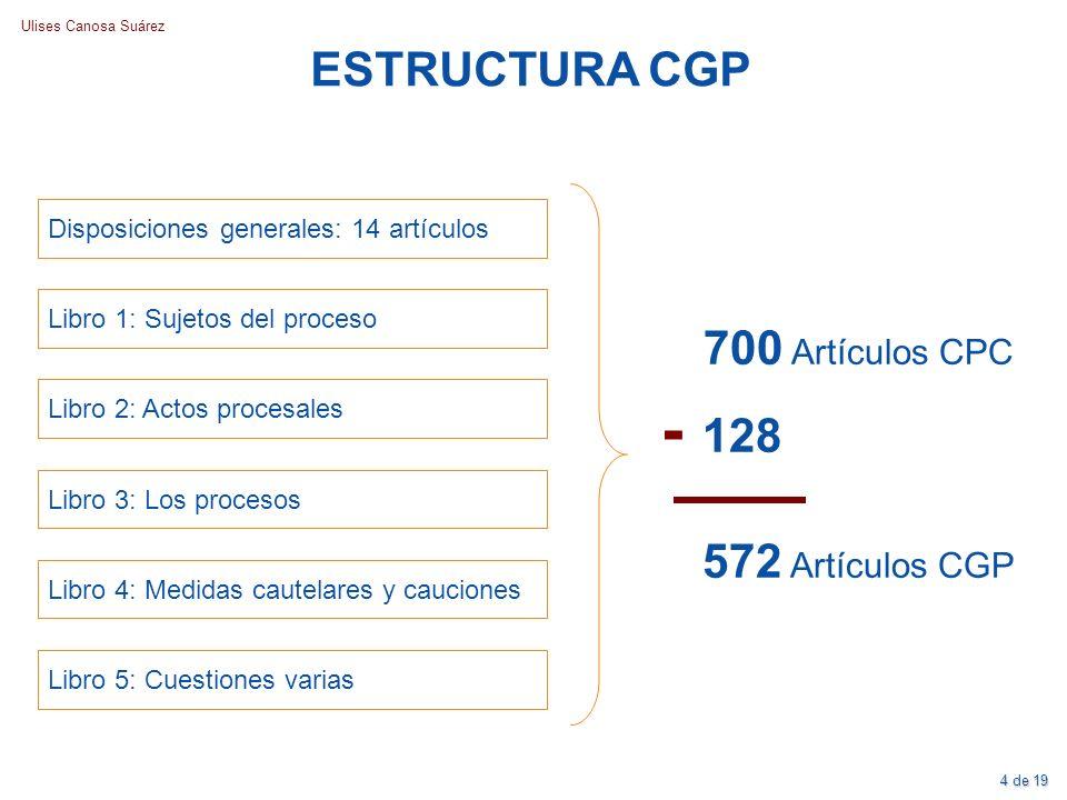 - 128 ESTRUCTURA CGP 700 Artículos CPC 572 Artículos CGP
