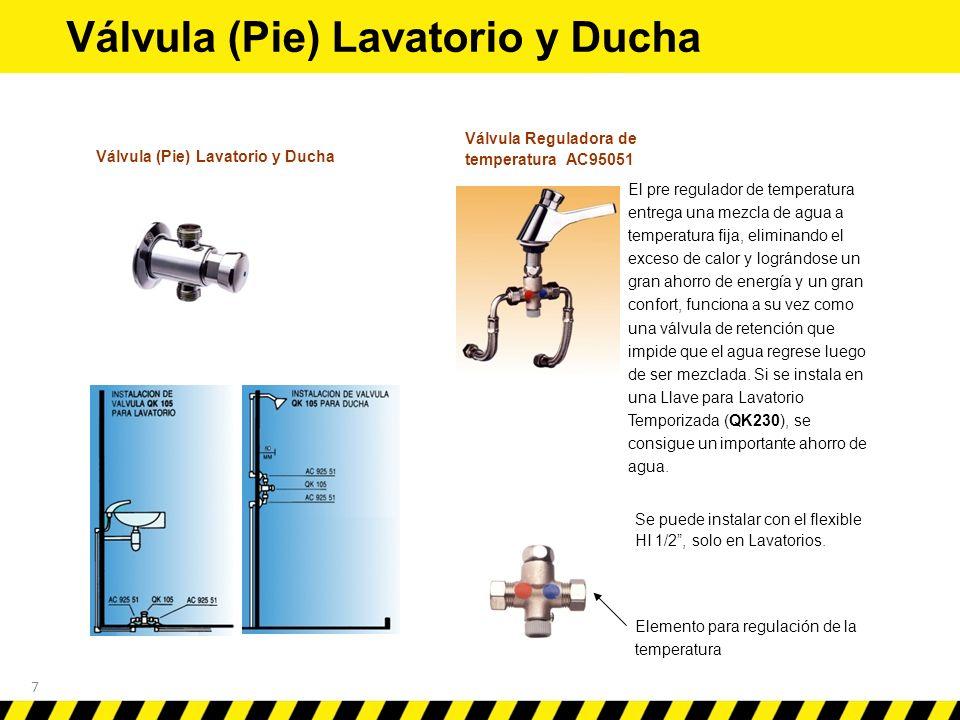 Instalaci n de llaves temporizadas y flux metros ppt for Llave para lavatorio