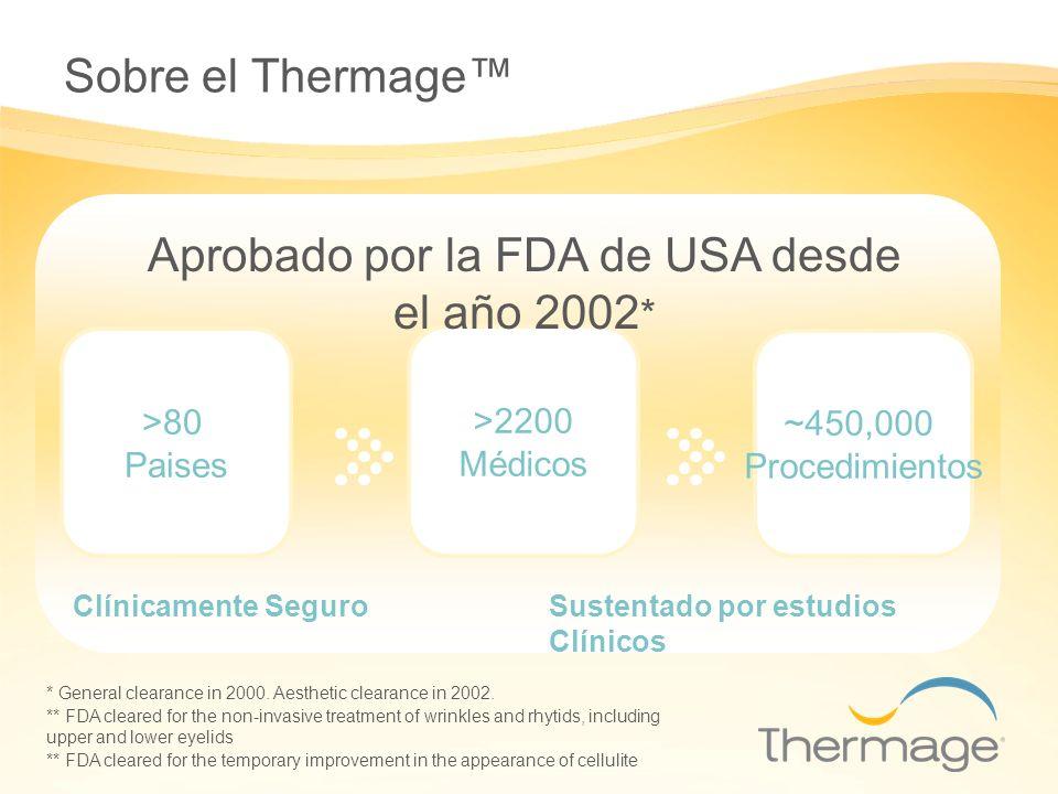 Aprobado por la FDA de USA desde el año 2002*