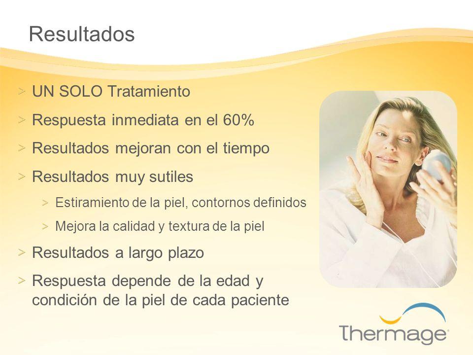 Resultados UN SOLO Tratamiento Respuesta inmediata en el 60%