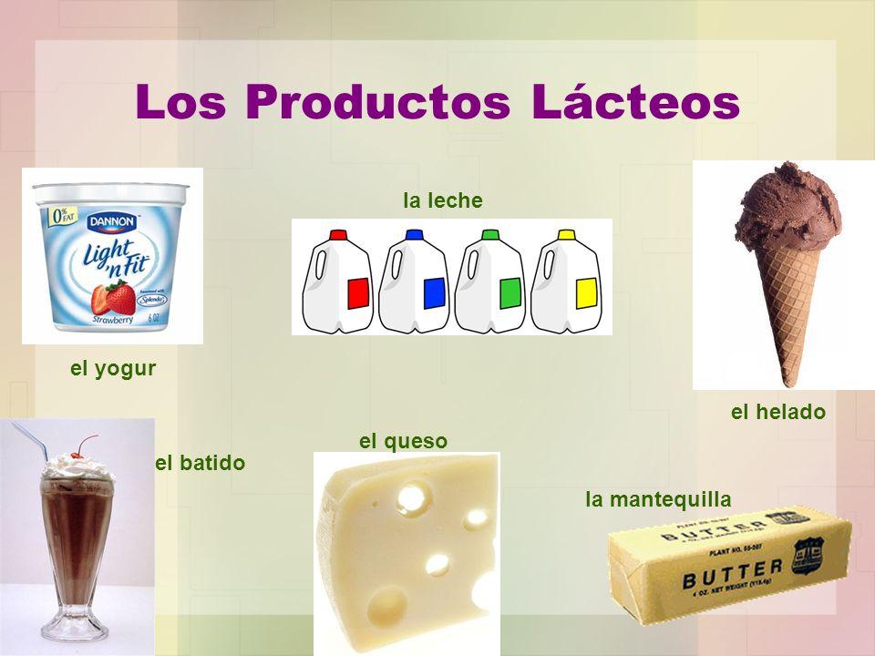 Los Productos Lácteos la leche el yogur el helado el queso el batido