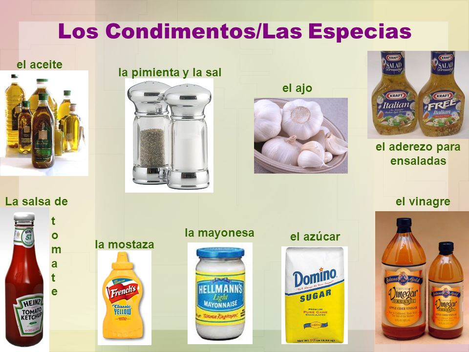 Los Condimentos/Las Especias